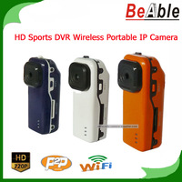 720P HD Sports DVR 1.3 Megapixel Wireless WIFI portable IP Camera Support P2P to realize remote surveillance around the world