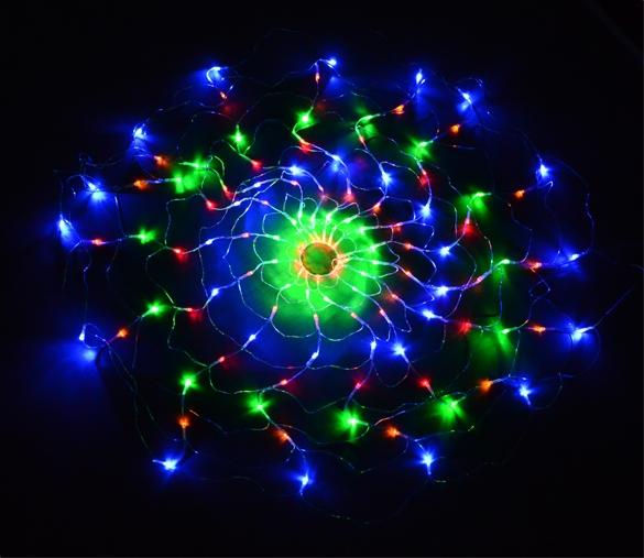New Year Spider's Web LED Light String Garland Christmas Lights Lamp for Christmas Wedding Outdoor Decorations EU Plug TK1333(China (Mainland))