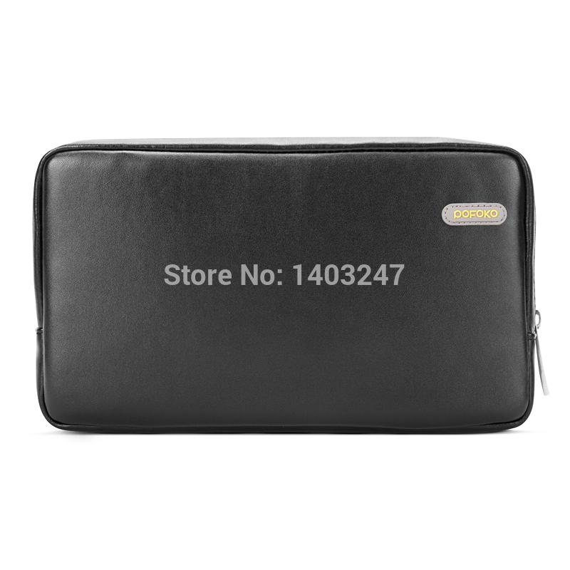 Pofoko Waterproof Men Women PU Leather Storage Bag Case for External Hard Drive Disk /Phone/Camera/Mp5 HDD Hard Drive Bag Case(China (Mainland))