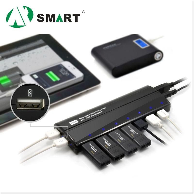BUH3091, Usb3.0 7 Port Hub with 2 x USB DCP Charging Port for Ipad/Iphone/Samsung Mobiles etc(China (Mainland))