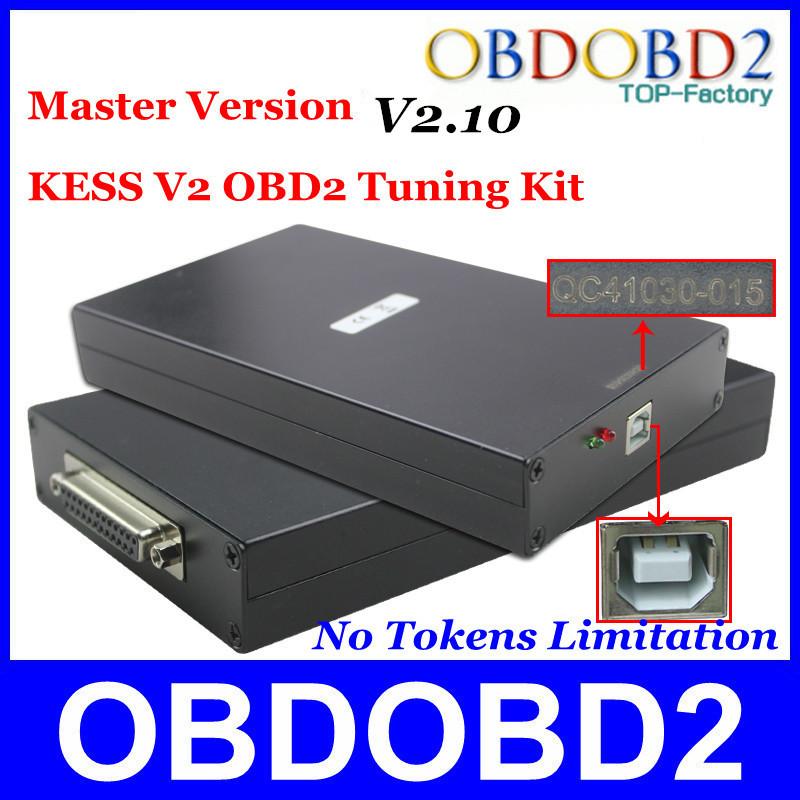 High Performance KESS V2.10 Master Version No Tokens Limitation KESS V2 Add OBD2 Function Manager Multi-Language Full Package(China (Mainland))