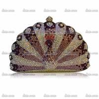Promotion Luxury Vintage Handmade Peacock Rhinestone Bags Woman Ladies Handbags Party Handmade Wedding Dress Bag Free Shipping