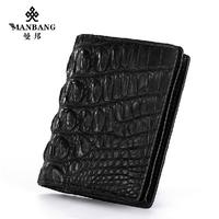Luxury Brand Genine Crocodile-skin cards holoder Designer fashion Black card case ID card Bags free shipping MBK012H