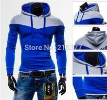Fashion 2015 Plus Size Mens Sweatshirts Sports Hoodies Stitch Design For Hip Hop Men Cool Tracksuits Man Hoody  XXXL,4XL(China (Mainland))