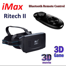 Phone Bluetooth Wireless Mouse/Remote Control+Head Mount Plastic Version 3d VR Virtual Reality Glasses Google Cardboard 3D