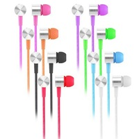 3.5mm in-Ear Earphone Headphone With Mic Microphone For Iphone SamSung HTC Mobile Phone