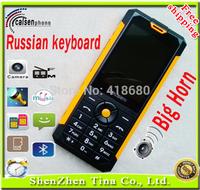 New 2015 original russian keyboard phone big speaker Dual Sim unlocked cell phones with Bluetooth camera MP3 flashlight SMS gift