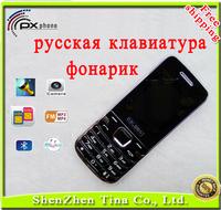Good quality Cheap unlocked phone russian keyboard mini cell phones SMS Bluetooth camera MP3 flashlight Dual Sim phone 3gift