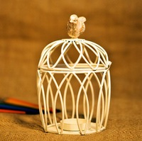 Romantic Elegance Classical Metal Birdcage Iron Wire winding Candle Holders Zakka Wedding Home Decoration