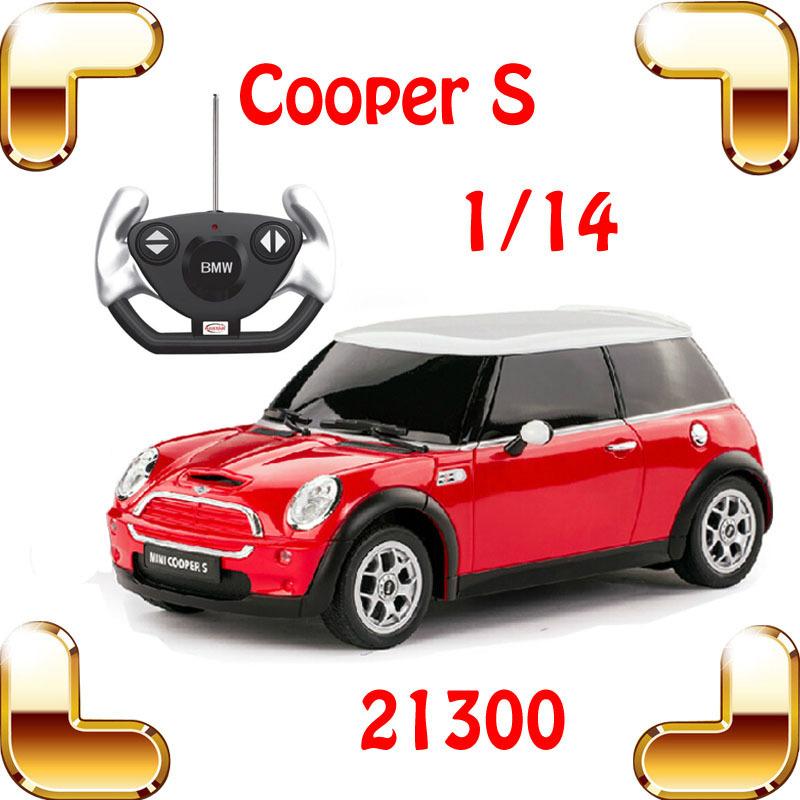 New Year Gift Rastar 21800 1/14 Mini Cooper S RC Remote Control Toy Car Big Sedan Car Electric Drive Vehicle Cute Cool Present(China (Mainland))