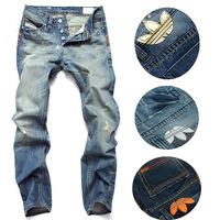 Wholesale fashion high quality Nostalgic blue cotton brand men's jeans New fashion 2014 leisure casual denim trousers pants