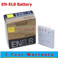 EN-EL8 EN EL8 ENEL8 Camera Battery Batteries Pack for Nikon COOLPIX S1 S2 S3 S4 S5 S6 S7 S7C S8 S9 S51 S50 S52 P1 P2 L1