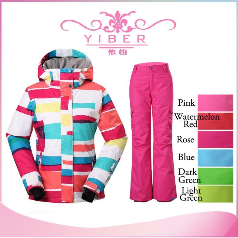 Waterproof winter overalls snow suits ski clothes woman winter ski jacket women brand+Winter hiking mountaineering ski pants(China (Mainland))