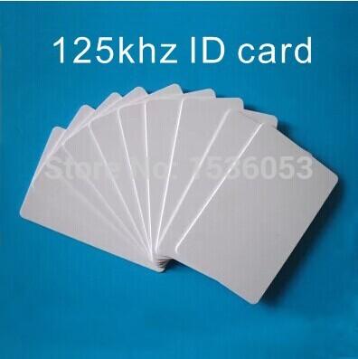 rfid card 125KHZ PVC blank card ID EM4100 with overlay card for access control(China (Mainland))