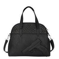 2015Famous shot hand gun bag women shoulder bag PU leather print pistol rivets women $ men gun bags women messenger clutch bolso