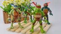 Promotion Newest TMNT Teenage Mutant Ninja Turtles 4 pieces/set 12cm Anime Cartoon model PVC Action Figure Toys Dolls