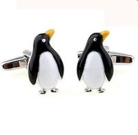 Penguin Cufflinks High Quality Coin Cufflinks for Mens fashion Stud cuff-link sleeve botton decorative cuff-botton accessories