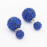 19 Styles New Fashion Rhinestone Cute Sweet Paragraph Stud Earrings Double Pearl Earrings Beads Earring Jewelry For Women 2014