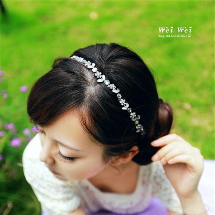 Japanese and Korean popular crystal flower hairband women bridal hair accessories wedding headdress CF023(China (Mainland))
