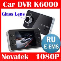 "100% Original K6000 NOVATEK 1080P Car DVR 2.7"" LCD OV9712 Glass lens Recorder Video Dashboard Vehicle Camera w/G-sensor"