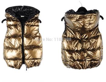 2015 зимний жилет леди пиджаки , ветровки colete feminino мода ватным тампоном пальто для женщин зимой жилет Большой размер бесплатная доставка