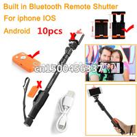 10pcs YUNTENG 1288 Extendable Self Portrait Selfie Stick Monopod w Bluetooth Remote Shutter for iPhone 6 plus 5s 4s GoPro