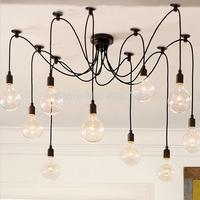 6 8 10 12 14 Arms DIY Retro Chandelier hold E27 Edison Bulb Vintage Pendant Lamp abajur Light for Bar Restaurant Coffee Fixtures