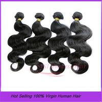 SISI 4pcs/lot brazilian  body wave 100% weave extension Grade 5A unprocessed Hair Bundles DHL FREEShipping