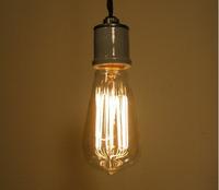 40W 60W Antiqued Style ST64 Edison Light Bulb E27 110V 220V Vintage Retro Tungsten Fialment Incandescent Bulb for bar Decorate