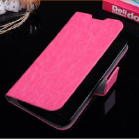 PU leather Protective shell skin/ Flip phone Case Cover for Oppo U705T Mobile phone Free shipping