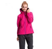 IKAI New Arrival Fashion Hoodied Women'S Outdoor Sportwear Jacket Waterproof Windbreaker Hiking Climbing Women'S Coat HWA0012-5