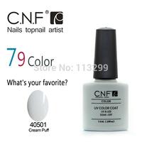 79 Colors Available 79Pcs/lot Hot Sale CNF Soak Off UV LED Nail Gel Polish The Best Gel Polish