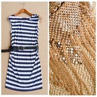 Free Shipping 2015 Fashion brand summer dresses women's Clothes 3D stereo Sleeveless vest dress dress black/blue dress Vestidos