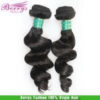 "Brazilian virgin hair loose wave 3pcs/lot (12""-30"")  cheap price human hair Berrys hair weave  full cuticle  hair extensions"