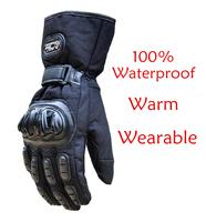 2014 newest glove ski waterproof guantes ciclismo guantes mtb gp pro gloves motorcycle gloves 100% waterproof M L XL XXL