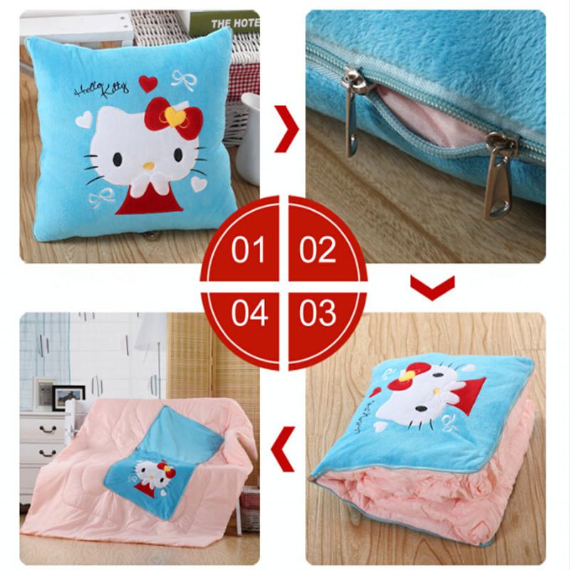 Sgipping 40x40cm gratuito Pillow Multifunction Almofada Quilt dos desenhos animados Cute110x150cm Quilt Cobertores Duplo Zipper Car Cadeira Sofá-cama(China (Mainland))