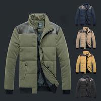 2015 Printed Lining Design Thicken Men Cotton Coat Size M-3XL Patchwork Windproof England Man Winter Warm Outdoor Jacket #NL123