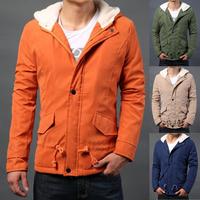 Free Shipping Men's Jacket Fashion Down & Parkas Outdoor Windproof  warm hat  Winter Jacket Men Casual winter coats #NL124