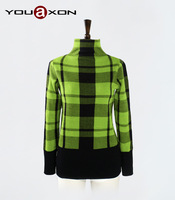 1667 YouAxon Plus Size Autumn Winter Casual Elegant Turtleneck Pullovers Jumper Woman Knitted Sweater for Women a+ Sweaters