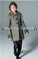 Brand baby girls wool jackets girls winter coat girl's windbreaker for kids windproof for children warm outerwear for baby