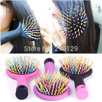 Rainbow comb Magic hairbrush anti-static Brush for hair Tangle brush comb With Mirror free shipping