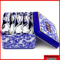 China anxi tieguanyin oolong tea tie guan yin luzhou-flavor tieguanyin tea premium with blue and white porcelain gift 10pcs/ box