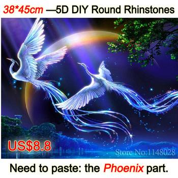 Новый 5D сделай сам алмаз живопись животные птицы любовник феникс вышивка крестом горный хрусталь фотографии из кристаллы вышивка лоскутное