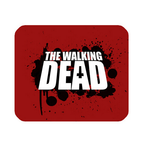 Walking Dead Custom Cool Beautiful Rectangle Mouse Pad Fitting Your Computer Very Well Hot Sale Free Shipping mmn-019(China (Mainland))