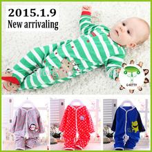 Children's Clothing 2015 New arrival costume Baby Wear Girls boy kids mickey Pajamas Children Pajamas Suits cashmere Sleepwears(China (Mainland))