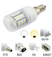 2pcs/lot Energy-saving E14 E12 E27 G9 GU10 27x5050 SMD White LED bulb AC 220V 240V LED Lamp High Quality LED Bulbs lamp Tubes