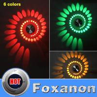 Foxanon Brand 3W 85-265V 110V LED Modern Aluminum Lighting Indoor Wall Lamp KTV Decorate Lights Lamps Luminaire  Livingroom