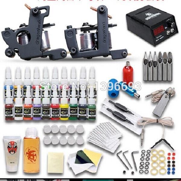 129pcs/set Beginner Tattoo Machine Kit,Complete Set of Tattoo Equipment,2 tattoo Gun & 20Colors Tattoo Ink/Pigment(China (Mainland))