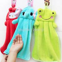 Sale 2015 Character Hanging Towel 3 Colors Cute Animals Baby Hand Towel Cartoon Toalha De Banho Hanging Bath Towel Home Textile