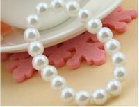 OMH wholesale 8mm white jewelry imitation pearl plastic women 's bracelet SZ03